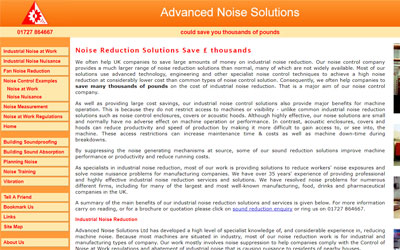 Advanced Noise Solutions, click for details