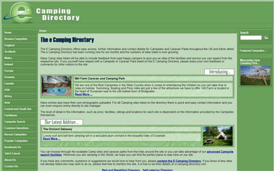 Campsite Directory, click for details