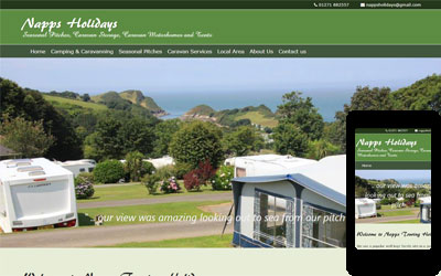 Napps Campsite, near Combe Martin, North Devon