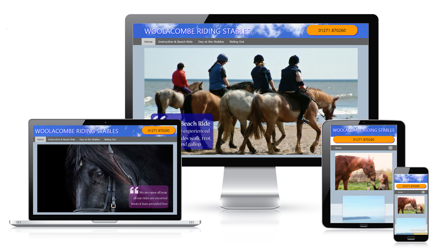 Woolacombe Riding Stables Website